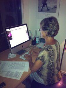 At my Mac
