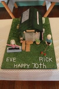 Rick and Eve Birthday Cake -The Yoga Shed