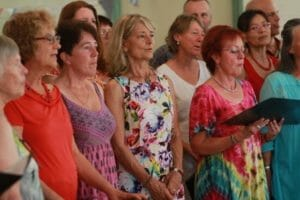 photo of Eve's choir at her 70th birthday