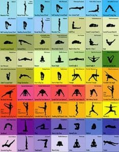 This poster of 63 yoga poses could help you decide how to choose what to practice.