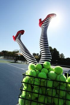 Tennis Yogini: Sunday Morning Practice