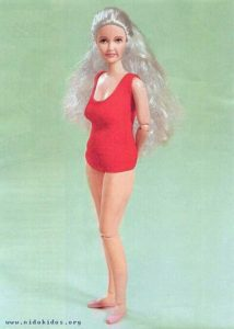 Image of middle age Barbie doll