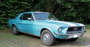 Photo of Turquoise 1967 Ford Mustang