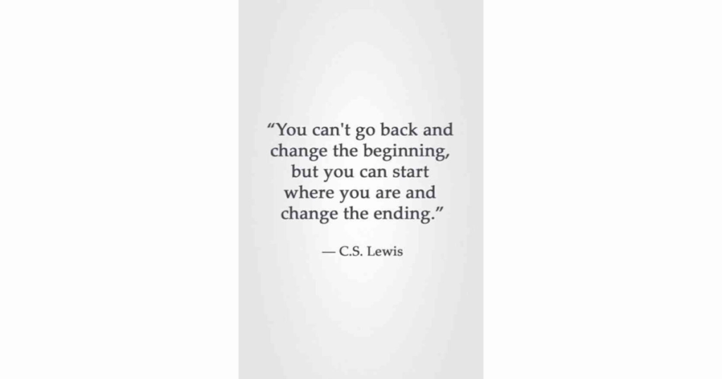 Quotation by C.S. Lewis re 'change'