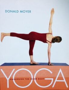 Image of a yoga book cover by Donald Moyer