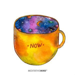 A colourful cup image with the word 'now' on the outside.